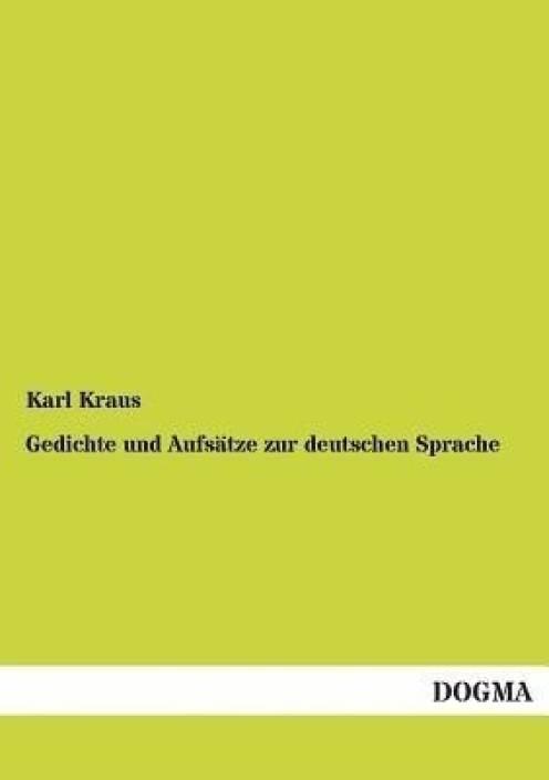 Gedichte Und Aufsatze Zur Deutschen Sprache Buy Gedichte
