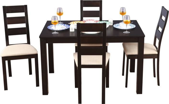 034c83ebaf5a HomeTown Walton Solid Wood 4 Seater Dining Set Price in India ...