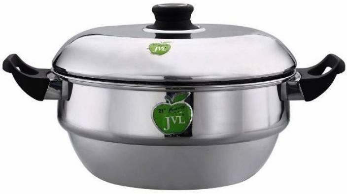 401623aa1f2 JVL Statinless Steel Induction Compatible Idli Maker With Steamer Plate