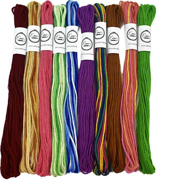 Embroiderymaterial Multicolor Thread Price In India Buy