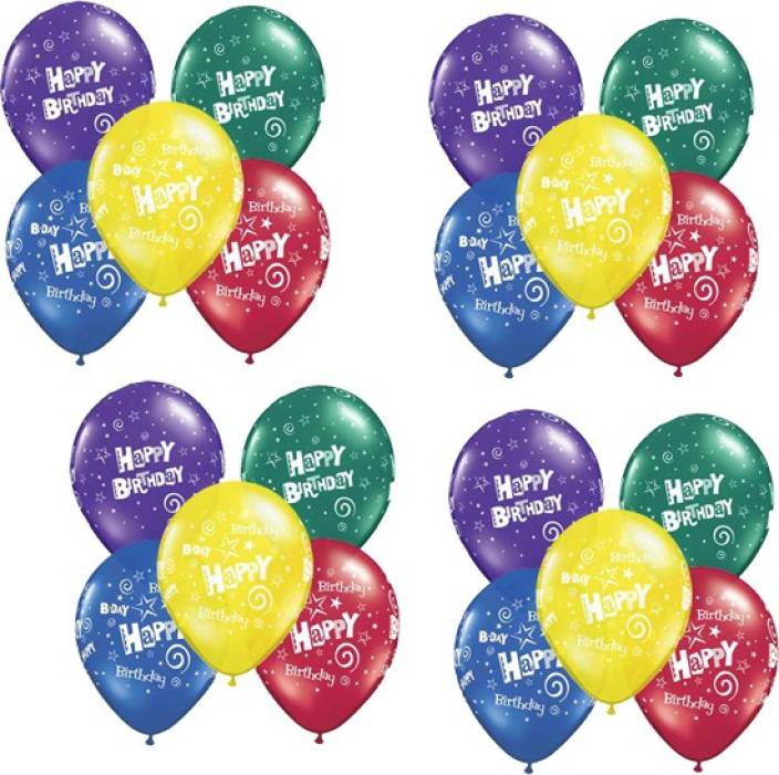 Miss Chief Printed Pack Of 20 Happy Birthday Led Multicolor Light Up Balloons With Glowing Effect For Parties Balloon