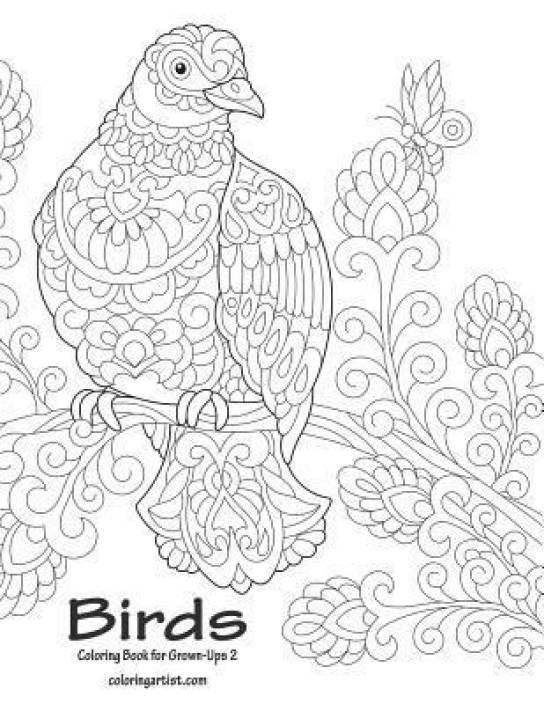Birds Coloring Book for Grown-Ups 2: Buy Birds Coloring Book for ...