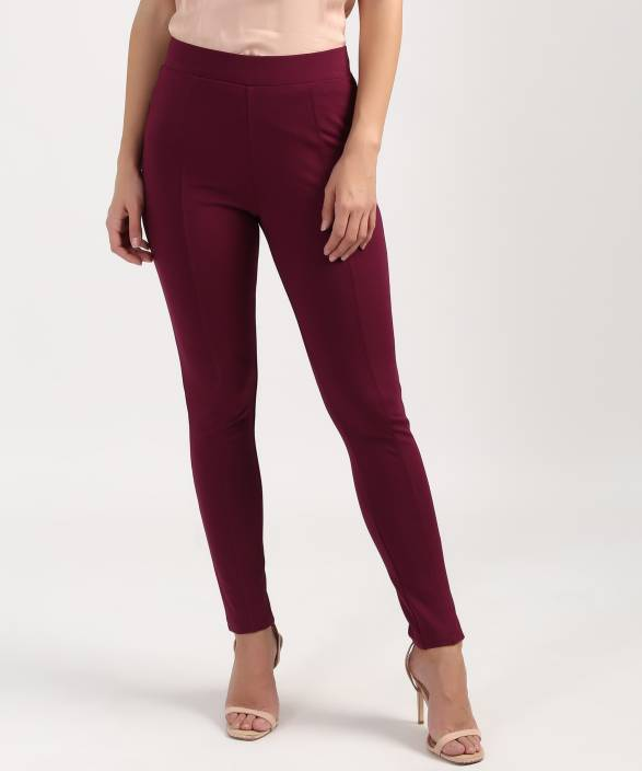 03a9eb1956b650 Marks & Spencer Maroon Tregging Price in India - Buy Marks & Spencer ...