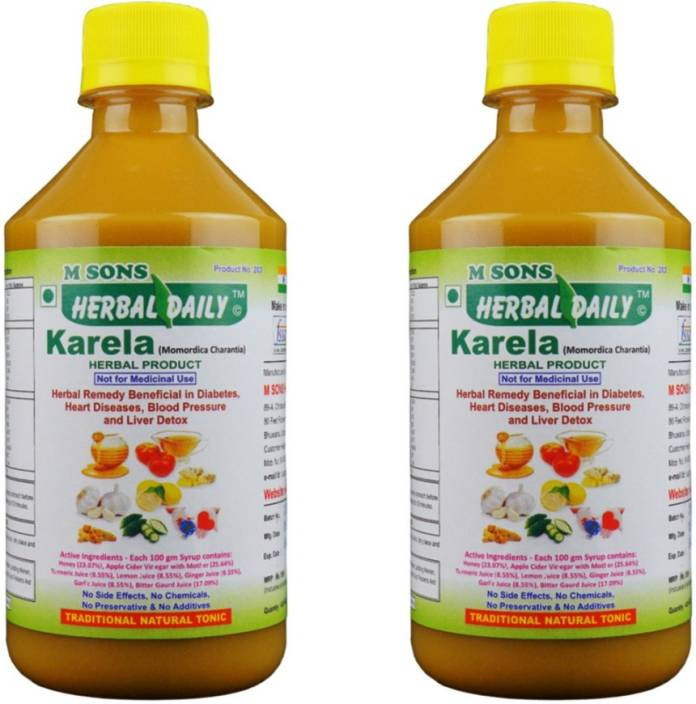 M SONS Herbal daily Karela Pack 2 for Diabetes, Cholesterol