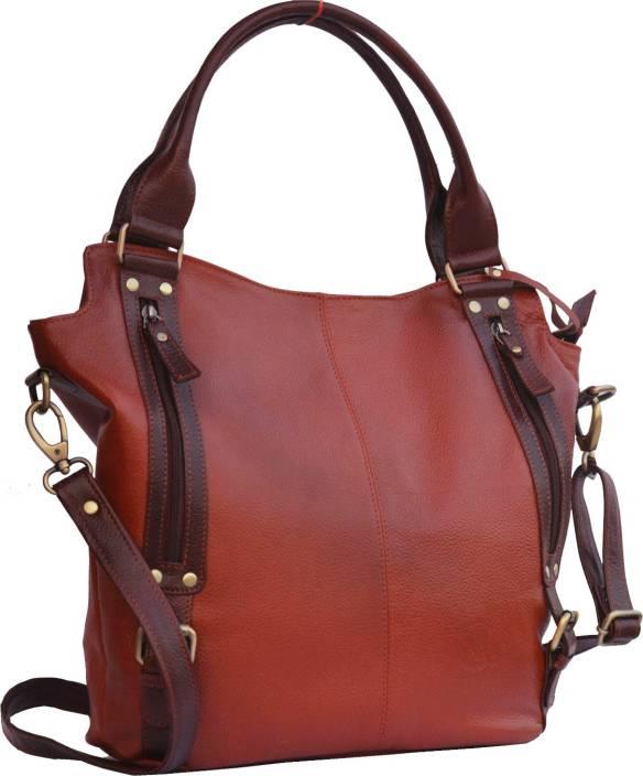 71c9d6ba81fe Musqari rpose leather handbags for women cum shoulderbag (pure leather bag)  (Brown)small multipu Shoulder Bag (Beige
