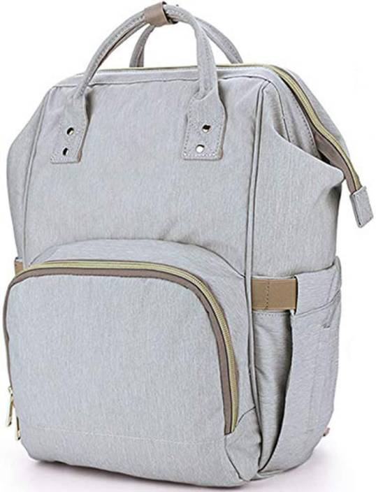 c081ab65c House of Quirk Water Resistant Baby Diaper Bag Grey Maternity Backpack ( DIAPER BAG_GREY) Backpack Diaper Bag (Grey)