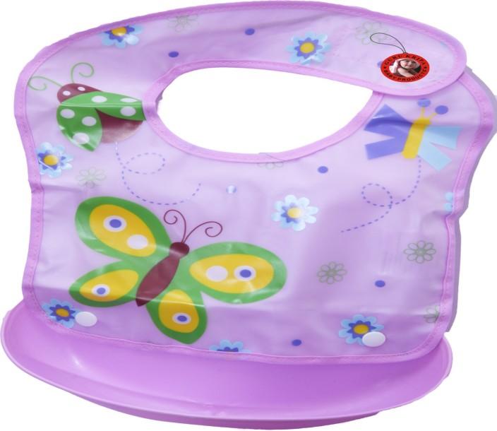 Waterproof Silicone Baby Bib Infant Feeding Bibs Crumb Catcher Washable Eating