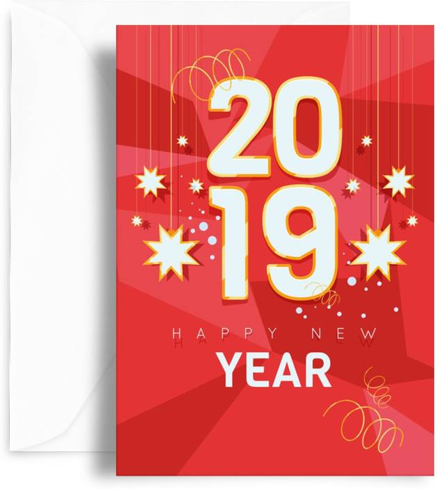 kaarti happy new year greeting card