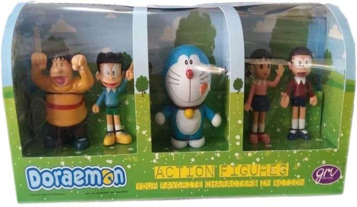 Grv Kreations Doremon Family 5 in 1 Figures Pack (Green)