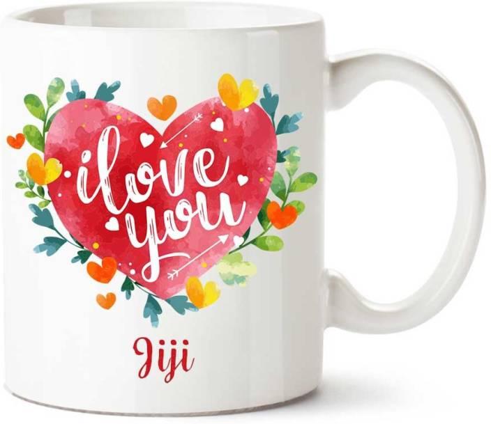 IBGift Jiji I Love You Ceramic coffee Name Ceramic Mug Price in