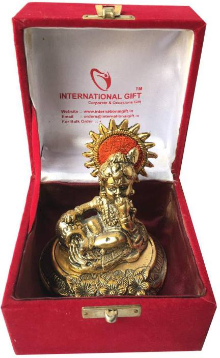 International Gift Gold Plated Laddu Gopal Murti With Velvet Box Ng Exclusive For Diwali
