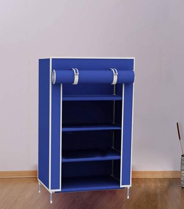 Litleo E Saving Multipurpose Storage Organizer Cabinet Tower Metal Collapsible Shoe Stand 4 Shelves