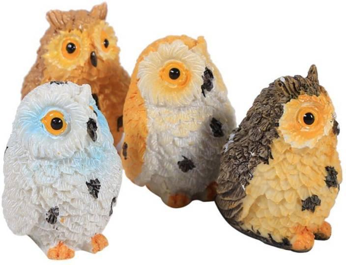P s retail Cute Owl Mini Resin Crafts Fairy Garden