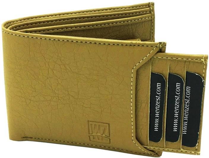 WENZEST Men Beige Artificial Leather Wallet