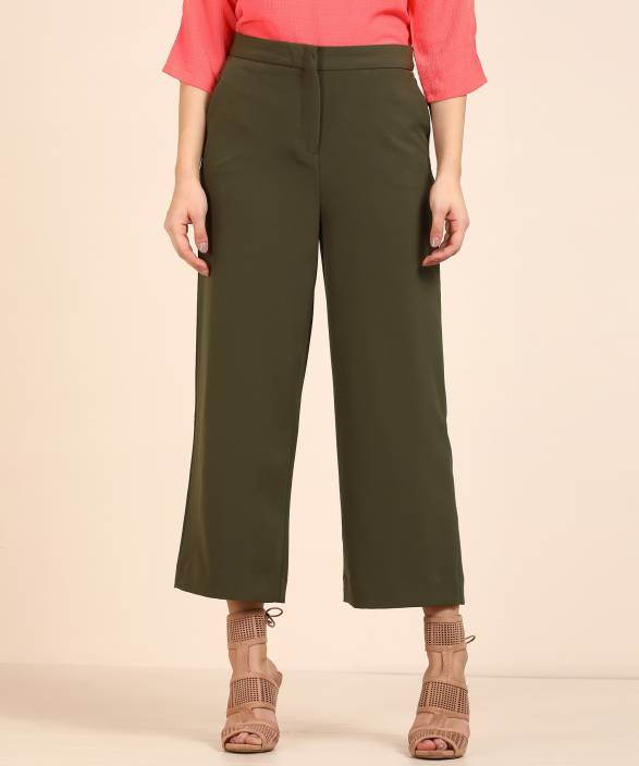 Van Heusen Relaxed Women Green Trousers - Buy Van Heusen Relaxed Women  Green Trousers Online at Best Prices in India  999aa7f79