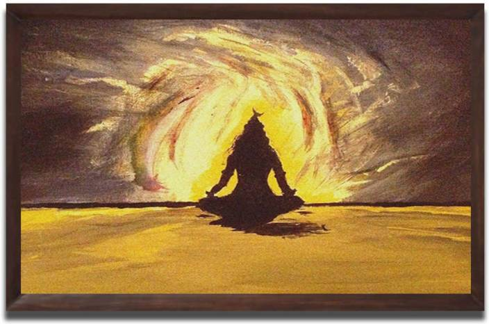 Aart Store Lord Shiva framed wall painting Canvas Painting