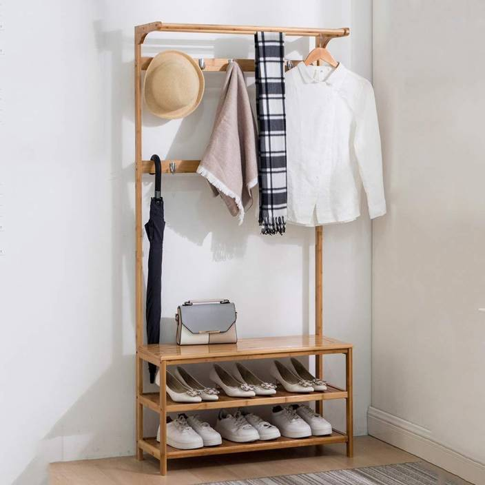House Of Quirk Multifunction Shoes Stool Creative Home Use Coat Rack