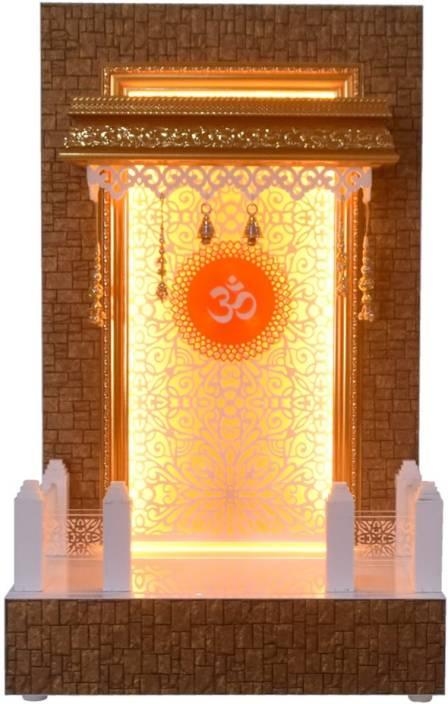 Themandirstore Wooden Pooja Mandir With Led Lights