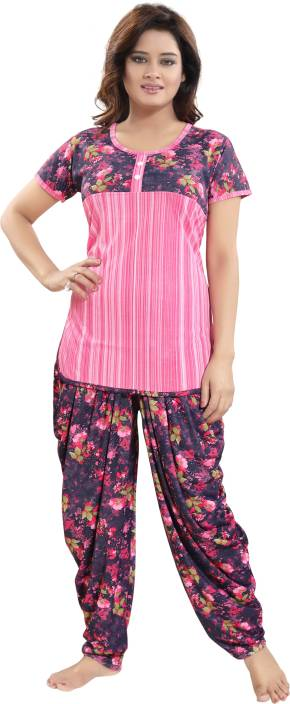 2b41331251 TUCUTE Women s Floral Print Pink Top   Pyjama Set Price in India - Buy  TUCUTE Women s Floral Print Pink Top   Pyjama Set at Flipkart.com Top    Pyjama Set