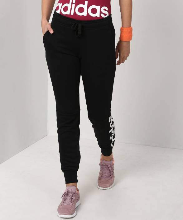 2eb56687fc1 ADIDAS Solid Women Black Track Pants - Buy Black/White ADIDAS Solid Women  Black Track Pants Online at Best Prices in India | Flipkart.com