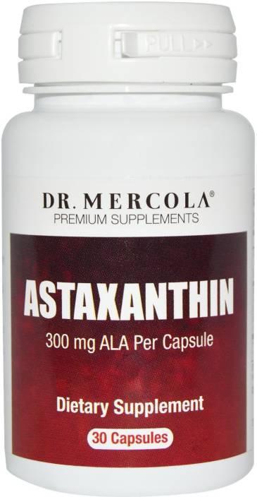 Dr  Mercola Astaxanthin 30 Capsules 300 mg ALA Per Capsule