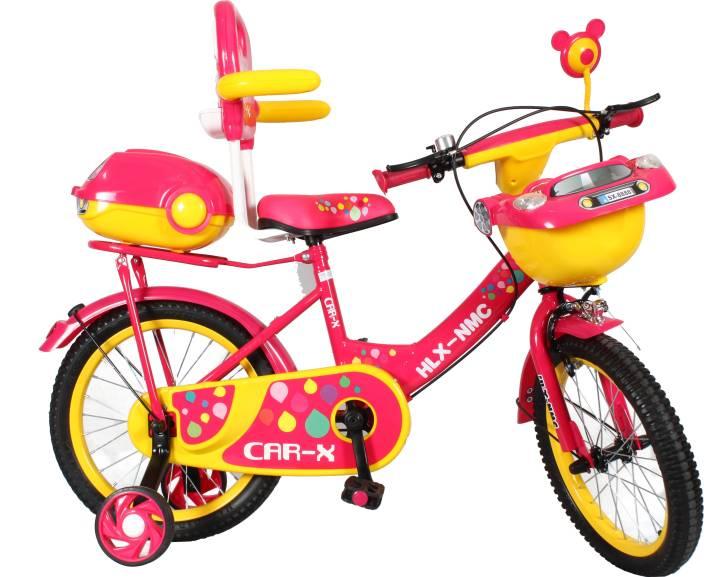 b88dfd359fb HLX-NMC Car design premium 16 - inch kids bicycle - Pink Yellow 14 T  Recreation Cycle (Single Speed