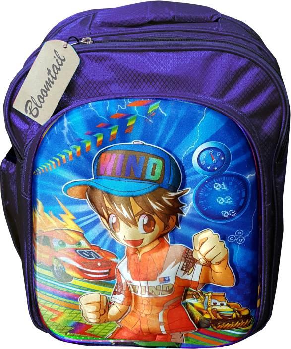 Bloomtail Kids Boy Cartoon Blue Backpack School Backpack For Kids Children  Waterproof School Bag (Dark Blue ceb1951c32ff0