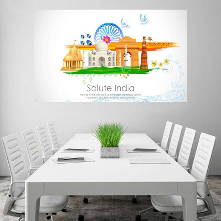 Salute India Wallpaper Poster No Framed Large Painting On