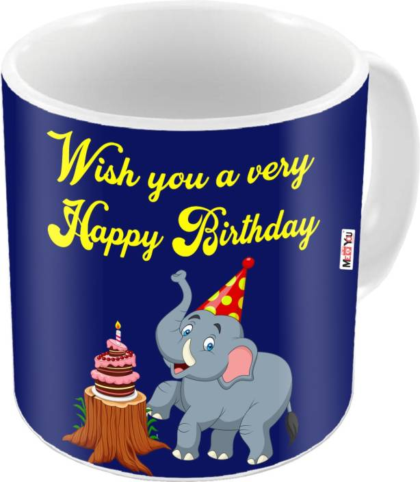 MEYOU Gift For Kids Brother SisterFriends On Birthday Gifts IZ18STBirthdayMU 004 Ceramic Mug 325 Ml