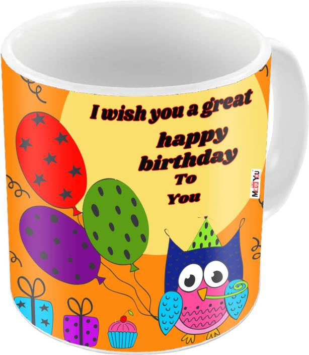 MEYOU Gift For Kids Brother SisterFriends On Birthday Gifts IZ18STBirthdayMU 045 Ceramic Mug 325 Ml