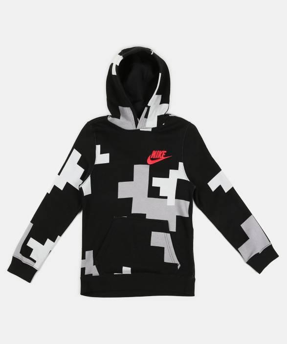 bbbae51d4b Nike Full Sleeve Self Design Boy's Sweatshirt - Buy Nike Full Sleeve ...