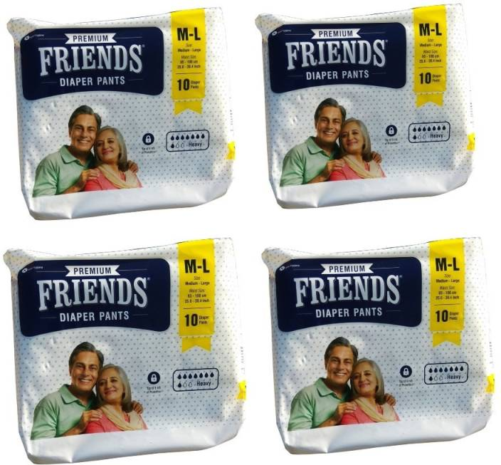 Friends Pull ups / Adult Pant style Diaper Set of 4 Packs 10