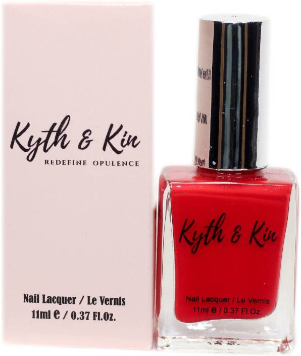 Kyth & kin Gel Effect Nail Lacquer Coral Red - Price in India, Buy ...