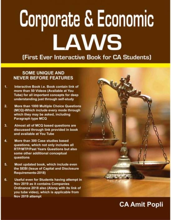 Ca-Final, Corporate & Economics Laws By Ca Amit Popli (New