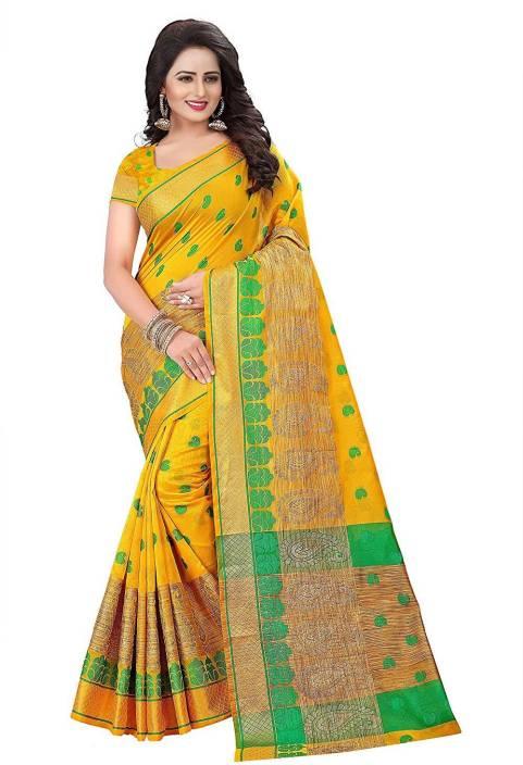 Parnita Printed Mekhela Chador Cotton Silk Saree