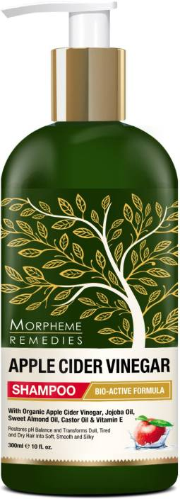 Morpheme Remedies Apple Cider Vinegar Shampoo (No Sulfate, Paraben or Silicon), 300ml - Transforms Dull, Tired & Dry Hair into Soft, Smooth & Silky