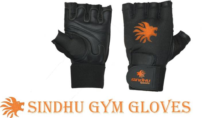 SINDHU SPORTS Power Muscle Builder Gym & Fitness Gloves (M, Black)