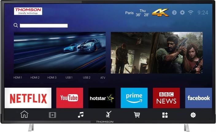 Thomson UD9 124cm (50 inch) Ultra HD (4K) LED Smart TV (50TH1000) Online at