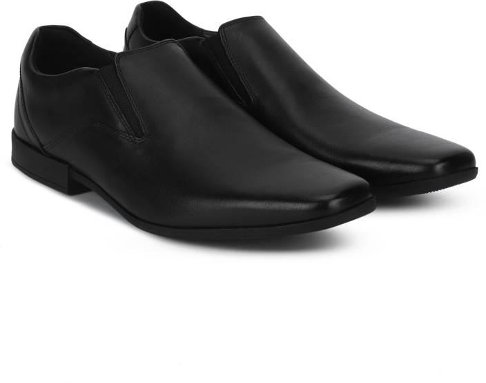 8d616ee4f37 Clarks Glement Slip Black Leather Slip On For Men - Buy Clarks ...