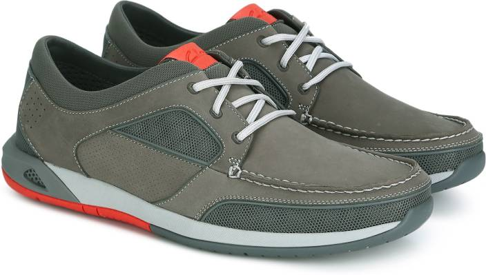 a3300b8ebc79b Clarks Ormand Sail Dark Grey Nubuck Running Shoes For Men - Buy ...