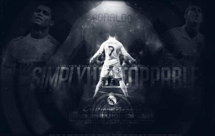 Chandigarh Graphic Ronaldo Multicolor Wall Poster (CANVAS