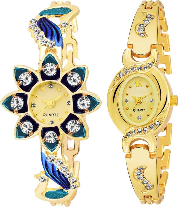 POCO Combo Pack 2 Best Artist Designer Party-Wedding Bangle Watch For Women & Girls PC-12 Watch - For Girls