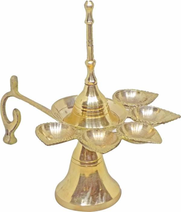 Confidence Brass Diya For Puja Mandir Decorations Items Jyot Diya
