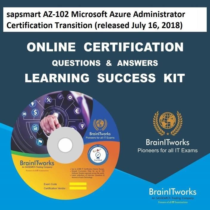 Sapsmart Az 102 Microsoft Azure Administrator Certification