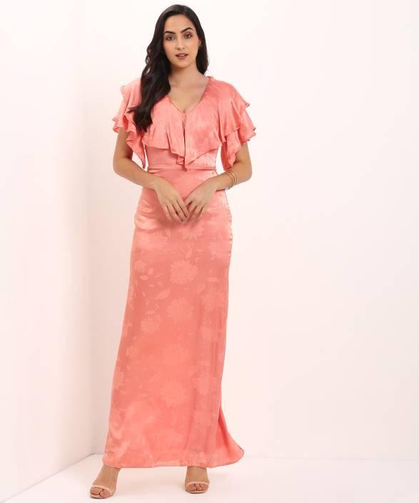 2ef15a78b8aec Trendyol Women Gown Pink Dress - Buy Trendyol Women Gown Pink Dress ...