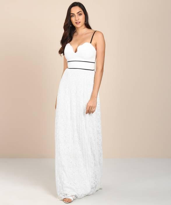 2c965d3fce32c Trendyol Women Gown White Dress - Buy Trendyol Women Gown White ...