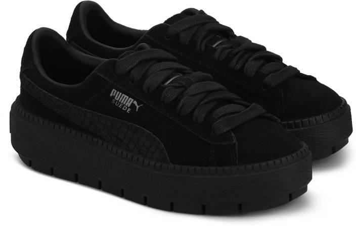 91a26e6a3c77 Puma Suede Platform Trace Animal Puma Black-P Sneakers For Women (Black)