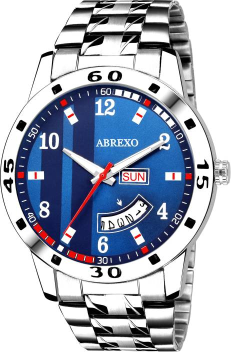 Abrexo Abx2070-Gents BL BLUE Day & Date Watch - For Men