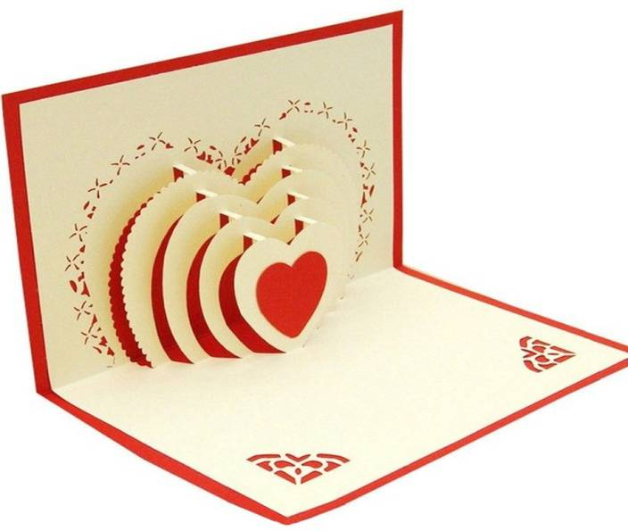 Jholmaal Heart Shaped Romance Anniversary Gifts Card For Wife