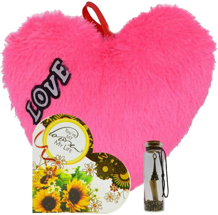 MEYOU Romantic Gifts Surprise Greeting Card With Message Bottle Heart For Wife Girlfriend Fiance On Valentines Day Birthday Anniversary